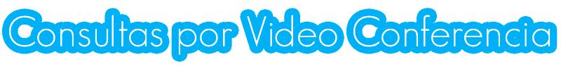 Consultas Por Video Conferencia